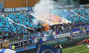 Novara Calcio tribuna fumogeni