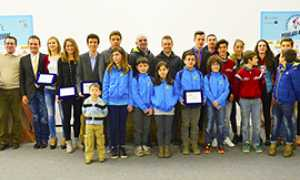 b Gruppo premiati 15 pedalate azzurre